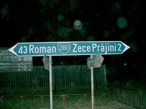 ゼチェ・プラジーニ村への標識