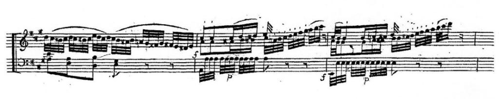 譜例1 第1楽章第5変奏第4~6小節(初版=アルタリア版)