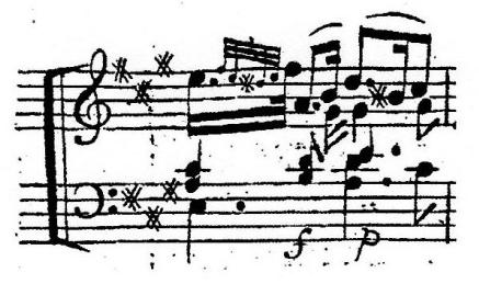 譜例3 第1楽章第5変奏第16小節(初版)