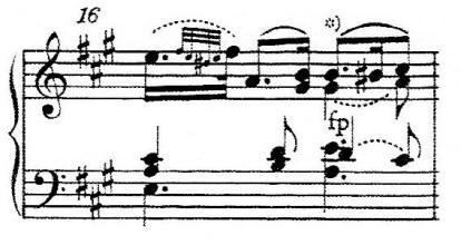 譜例4 第1楽章第5変奏第16小節(NMA)