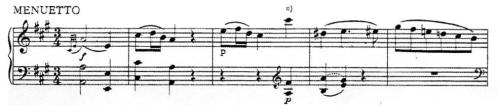 譜例6 第2楽章第1~5小節(NMA)