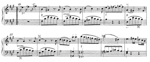 譜例8 第2楽章第19~30小節(NMA)